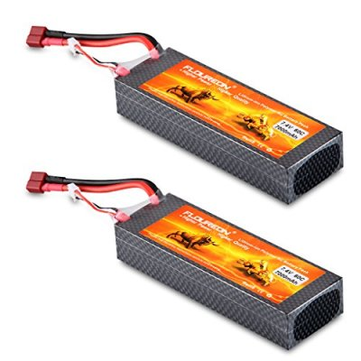 Floureon-2Packs-2S-2P-74V-7000mAh-60C-Lipo-Battery-Deans-Plug-546187101-inch-for-RC-Quadcopter-Airplane-Helicopter-Car-Truck-Boat-Hobby