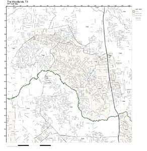 Amazon.com: ZIP Code Wall Map of The Woodlands, TX ZIP