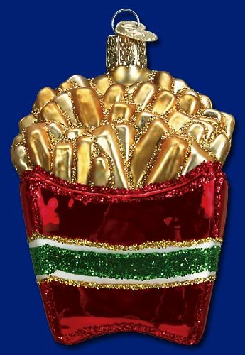 Old World Christmas Glass Ornament French Fries