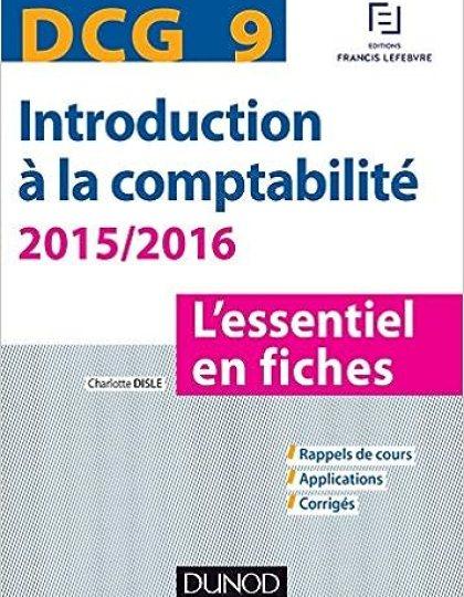 DCG 9 : Introduction à la comptabilité 2015/2016