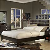 King Modus Perimeter Platform Bed in Chocolate Brown Finish