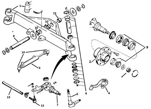 D103156 Front Axle King Pin Kit Fits Case 480C 480D 480E