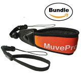 MuvePro-Camera-Float-Strap-and-Interchangeable-Wrist-Band-for-Waterproof-GoPro-Cameras-Orange