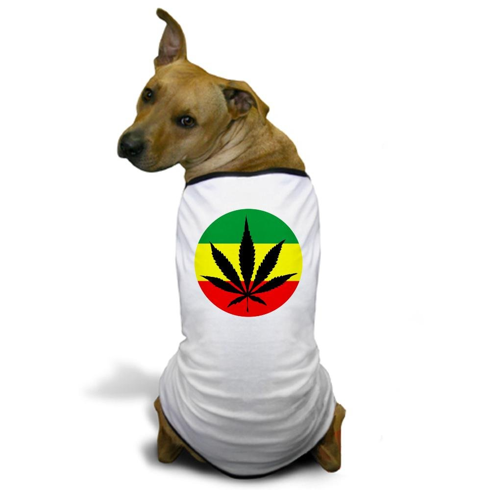 CafePress Rasta Marijuana Dog T-Shirt