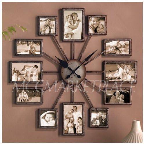 Amazon.com: Unique Large Wall Clock Photo Family Picture