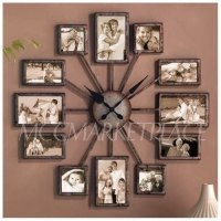 Amazon.com: Unique Large Wall Clock Photo Family Picture