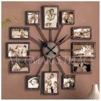 Amazon.com: Unique Large Wall Clock Photo Family Picture ...