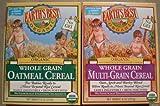Earth's Best Organic Whole Grain Oatmeal & Multi-grain Cereal (One 8 Oz Box of Each)
