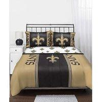 Amazon.com : NFL New Orleans Saints Queen Bedding Set ...