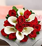 1-800-Flowers - Stunning Red Rose & Calla Lily - Bouquet Only