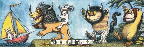 Where the Wild Things Are Max in Boat Childrens Literary Decorative Poster Print 12x36