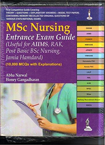 M.Sc Nursing Entrance Exam Guide (Useful for Aiims, Rak, Post Basic Bsc Nursing, Jamia Hamdard)