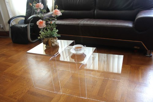 Top Stage AC-TB1 Clear Acrylic Nesting Table Coffee End