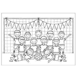 12 Football Colouring Sheets: Amazon.co.uk: Toys & Games