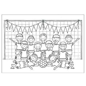 12 Football Colouring Sheets: Amazon.co.uk: Toys & Games