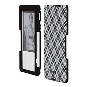 "Speck Fitted Kindle Case (Fits 6"" Display, 2nd Generation Kindle), Black and White Tartan Plaid"
