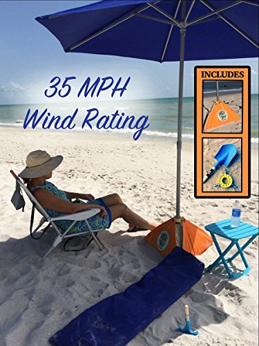 Heavy Duty Beach Umbrella  Best Wind Resistant and Sun Shade