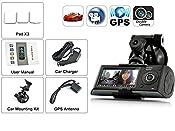 Indigi® HD Dash-Cam Dual Camera Front+InCab Driving