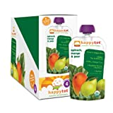 Happy Tot Organic Baby Food, Stage 4, Spinach, Mango and Pear, 4.22-oz. Pouches (Pack of 16)
