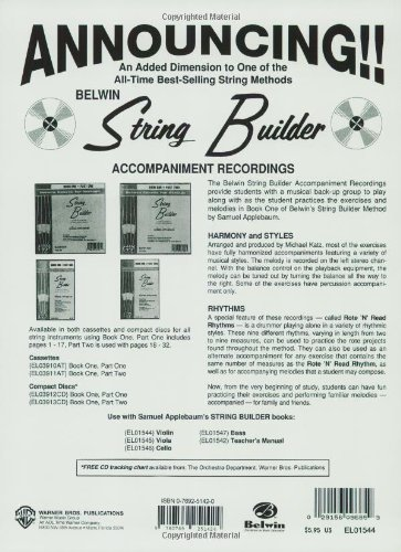 String Builder Violin Book One (Belwin Course for Strings