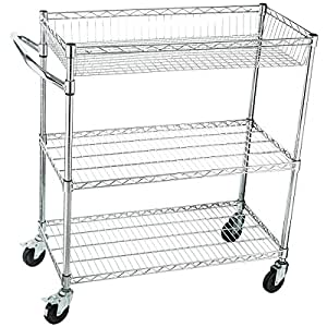 Amazon.com: Home-it Rolling Utility Cart On wheels Heavy