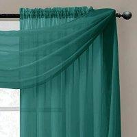 Window Elements Diamond Sheer Voile Curtain Scarf 56 x 216 ...