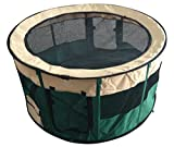 Puppy Playpen for Medium/Small Pets - Dog Crates and Kennels Indoor/Outdoor - Steel Frame Portable Play Yard 45 x 45 x 23ins - Washable Strong Oxford Fabric Sides