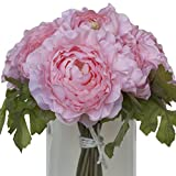 Ranunculus Silk Bouquet - Pink
