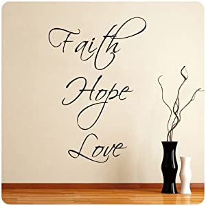 Faith Hope Love Wall Decal Decor Words Large Nice Sticker
