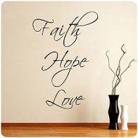Faith Hope Love Wall Decal Decor Words Large Nice Sticker ...