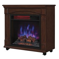 Powerheat Rolling Electric Fireplace Home Garden Fireplaces