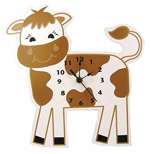Trend Lab Baby Barnyard Wall Clock, Cow