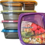Portion-Perfect-Premium-Meal-Prep-ContainersPortion-Control-ContainersBento-Lunch-Box-Set-of-5
