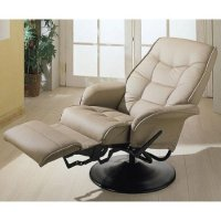 Amazon.com - MAN CAVE Two Tan Leatherette Modern Recliners