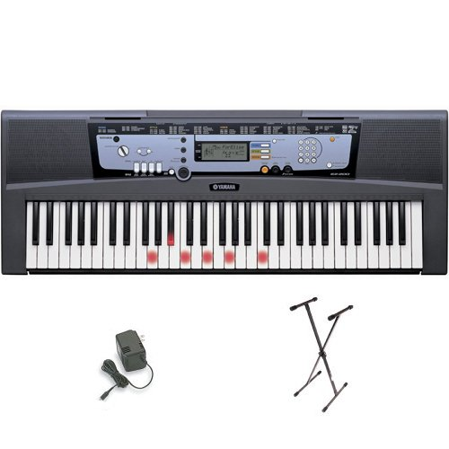 Yamaha EZ-200 61 Full-Sized Touch Keyboard w/ AC Adapter and Stand