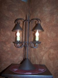 Reproduction Primitive Lamp ~ Double Lamp with Hanging