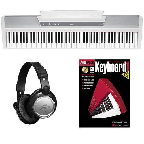 Korg SP-170s White Digital Piano BONUS PAK w/ Headphones & Lesson Boo