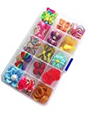 PET SHOW Small Pet Cat Dog Hair Bows Hair Clips Rubber Bands Set Dogs Grooming Hair Accessories Assorted Randomly Pack of 1box