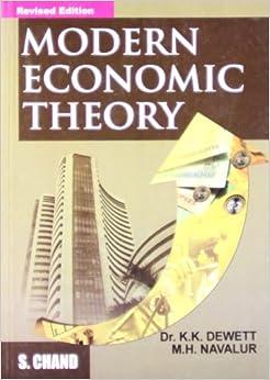 Modern Economic Theory: K. K. Dewett: 9788121924634