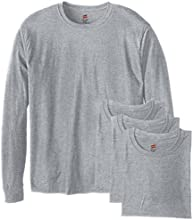 Hanes Men's 4 Pack Long Sleeve Comfortsoft T-Shirt