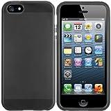 mumbi TPU Silikon Schutzhülle iPhone 5 5S Hülle transparent schwarz
