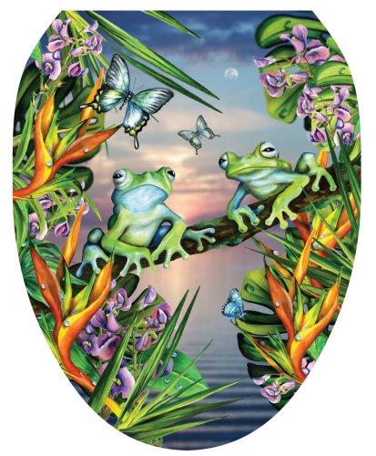 Toilet Tattoos Tt Ls01 O Frogs In The Moonlight Design