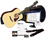 Silvertone SD3000 Complete Acoustic Guitar Package with Instructional Software, Natural