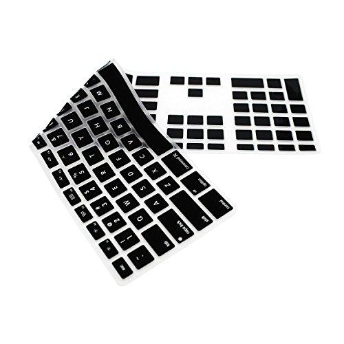 HRH Black Silicone Keyboard Skin Cover for Apple iMac