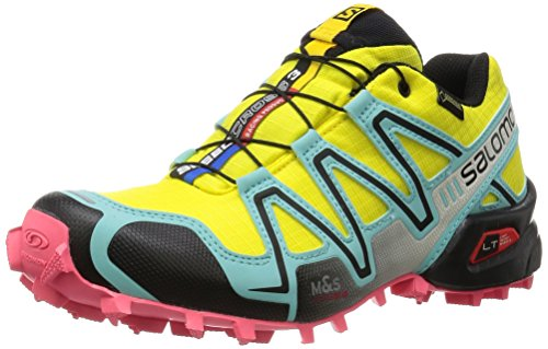 Salomon Speedcross 3 Gtx, Damen Laufschuhe, Mehrfarbig (Citrus-X/Bubble Blue/Madder Pink), 38 2/3 EU