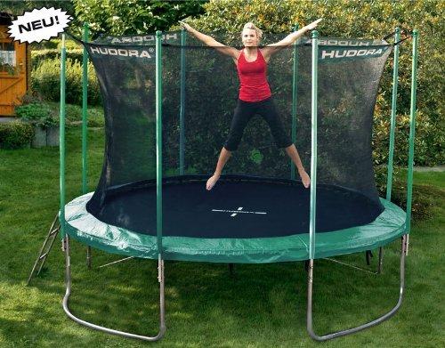 hudora trampolin 366 cm mit sicherheitsnetz und leiter modell 2012 trampolin g nstig kaufen. Black Bedroom Furniture Sets. Home Design Ideas