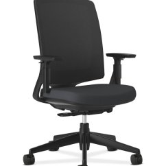 Office Chair Levers Lowes Outdoor Chairs Hon Lota Mid-back Work With Mesh Back For Or Computer Desk, Black - Furniturendecor.com