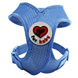Best Choke-Free Dog Harness to keep your pet safe and comfortable. Harnesses are far superior to a collar to protect the neck and throat of your pet. Sizes for small dogs breeds and puppies. High quality similar to Puppia and Webmaster. Perfect to use in dog training or for a puppy. MEASURE YOUR DOG USING THE SIZE CHART IN THE IMAGES BEFORE BUYING. 100% Satisfaction Guarantee (Blue, XS)