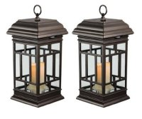 2 PC Solar LED candle light Patio Lanterns 8 Hours of Run ...