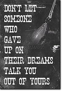 Amazoncom Boxing Motivational Poster 05 quotDon39t let